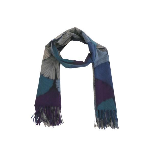 Fular 180 cm x 70 cm, imprimat, albastru – Univers Fashion