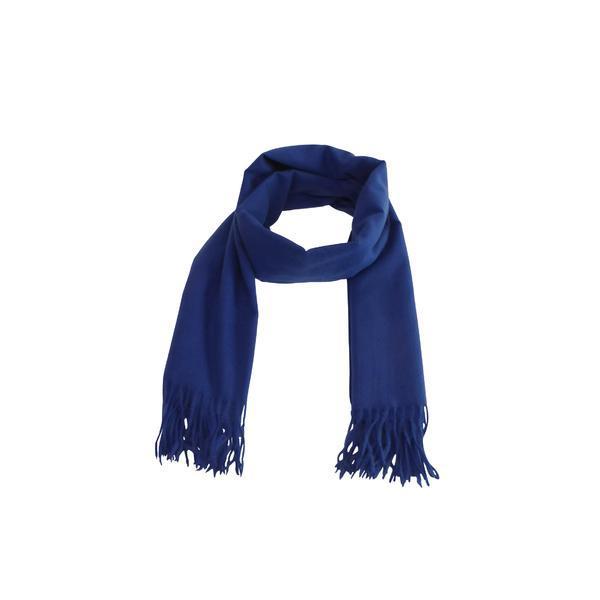 Fular 180 cm x 78 cm, uni, albastru – Univers Fashion