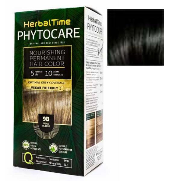 Vopsea pentru Par Herbal Time Phytocare Rosa Impex, nuanta 1N imagine