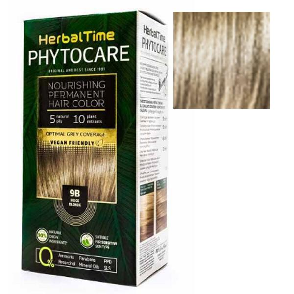 Vopsea pentru Par Herbal Time Phytocare Rosa Impex, nuanta 9N imagine