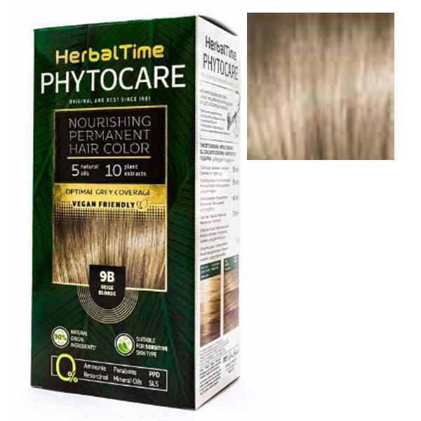 Vopsea pentru Par Herbal Time Phytocare Rosa Impex, nuanta 9B imagine