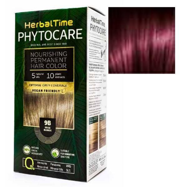 Vopsea pentru Par Herbal Time Phytocare Rosa Impex, nuanta 4R imagine