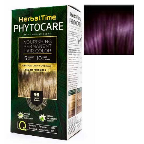 Vopsea pentru Par Herbal Time Phytocare Rosa Impex, nuanta 4V imagine
