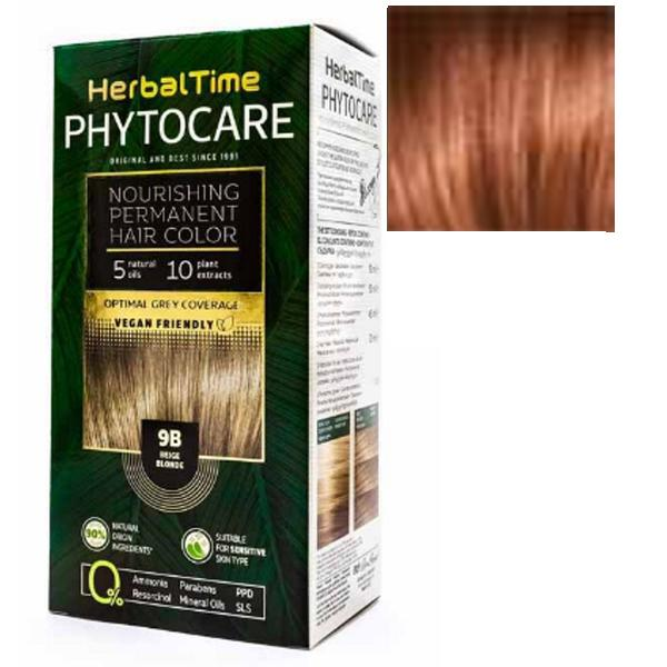Vopsea pentru Par Herbal Time Phytocare Rosa Impex, nuanta 7C imagine
