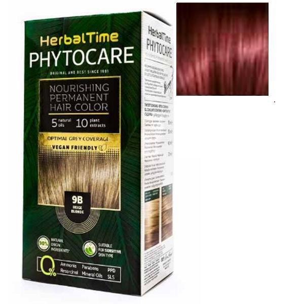 Vopsea pentru Par Herbal Time Phytocare Rosa Impex, nuanta 6R imagine