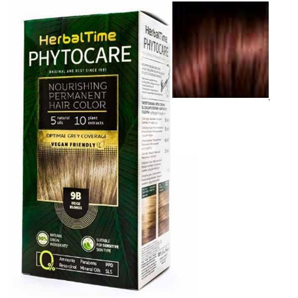 Vopsea pentru Par Herbal Time Phytocare Rosa Impex, nuanta 6NR imagine