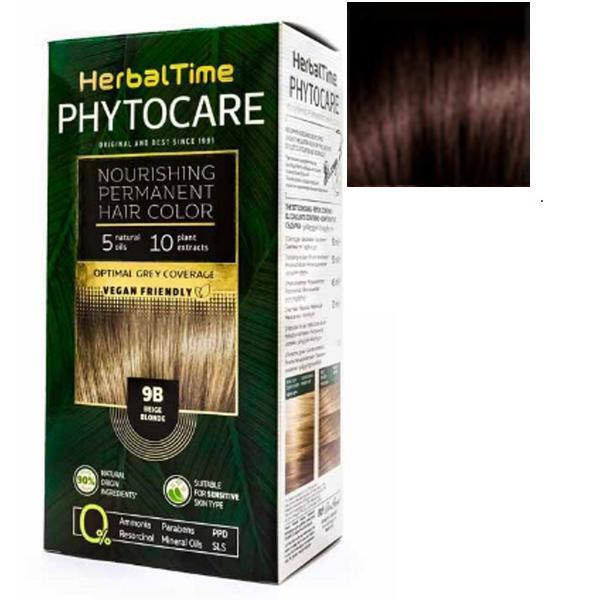 Vopsea pentru Par Herbal Time Phytocare Rosa Impex, nuanta 5WN imagine