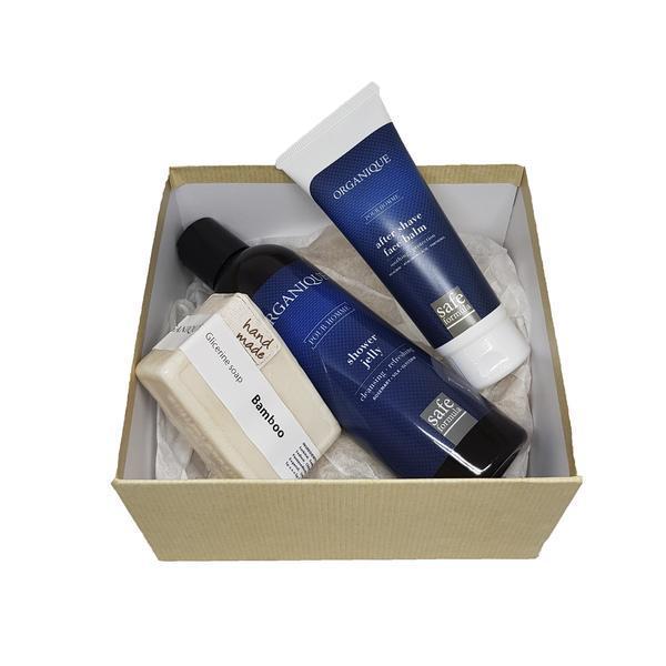 Set cadou pentru barbati Gel dus 250ml + Sapun 100g + After shave 70ml - Organique imagine