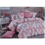 Set cearceaf de pat cu elastic 220 x 240 x 25 cm, si 2 fete de perna 50 x 70 cm, bumbac 100% - Patru Anotimpuri