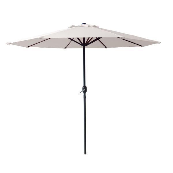 Umbrela soare cu mecanism rabatare, culoare alba, 270 cm – Kocin