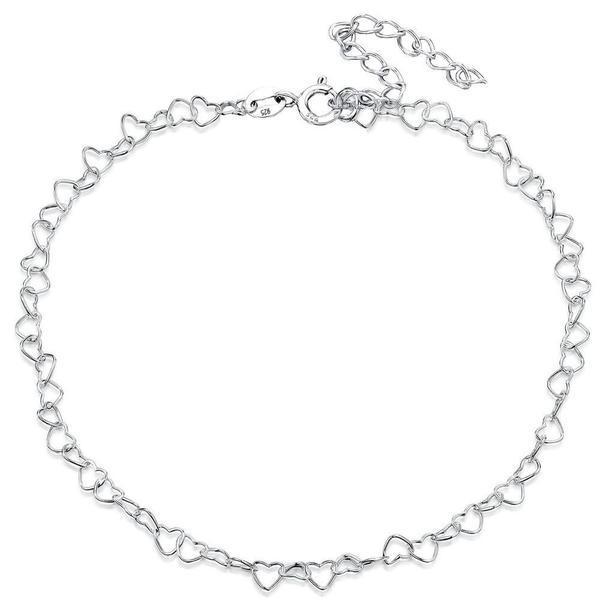 Bratara pentru Picior Glezna Argint 925 placat cu Rodiu Alb, GlassIdeas