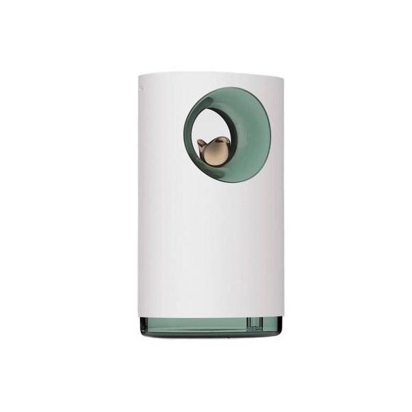Umidificator de aer Ultrasonic, Nature, 400ml, decor, sunet ambiental, USB, alb