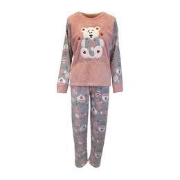 pijama-dama-univers-fashion-bluza-cocolino-roz-inchis-si-gri-cu-ursulet-pantaloni-polar-gri-cu-imprimeu-roz-inchis-2xl-1.jpg