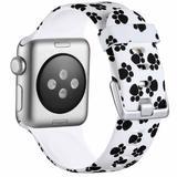 Curea compatibila cu Apple Watch 1/2/3/4, Bratara Trendy, Silicon, 40mm, Paw Print, Motrix