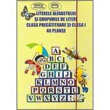 40 Planse - Literele alfabetului si grupurile de litere clasa pregatitoare si cls 1, editura Ars Libri
