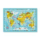 Puzzle - Harta animalelor lumii (80 piese)