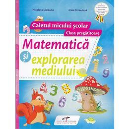 Matematica si explorarea mediului. Clasa pregatitoare, caiet - Nicoleta Ciobanu, editura Cd Press