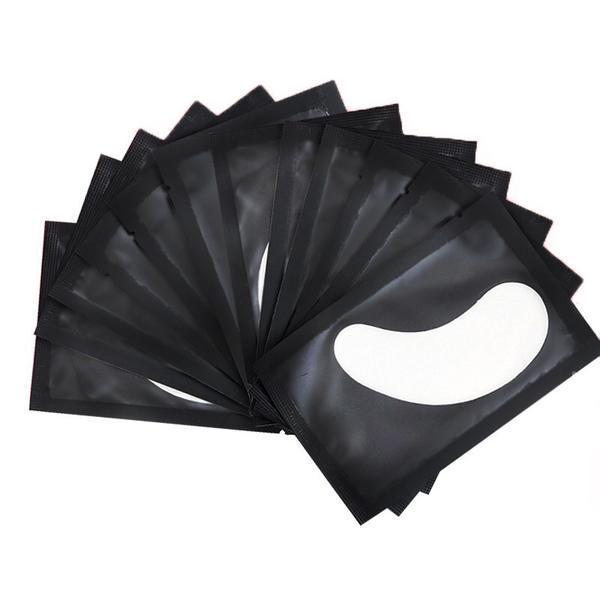 Set Hydrogel Eye Patch 50 perechi, plasturi cu gel hidratant pentru extensii gene, negru esteto.ro