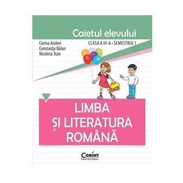 Romana cls 3 caiet semestrul I - Corina Andrei, Constanta Balan, editura Corint