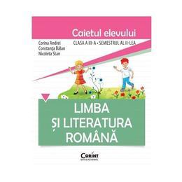 Romana cls 3 caiet sem 2 - Corina Andrei, Constanta Balan, editura Corint