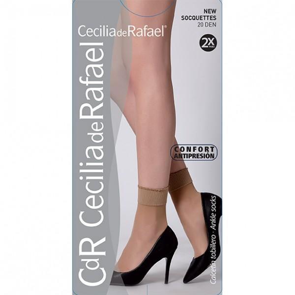 Sosete dres, Cecilia De Rafael, microfibra 20 DEN , pachet 2 perechi, negru