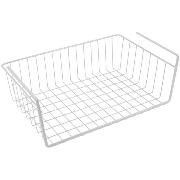 Cos suspendat pentru organizare si depozitare, alb, 40x26x14 cm – Maxdeco