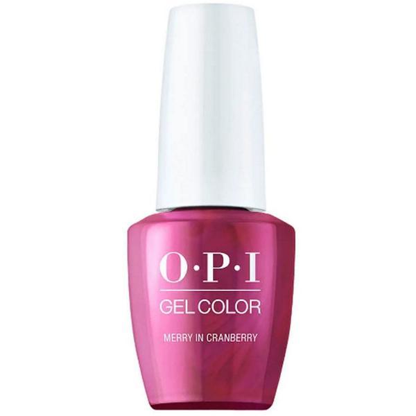 Lac de Unghii Semipermanent - OPI Gel Color Shine Bright Merry in Cranberry, 15 ml
