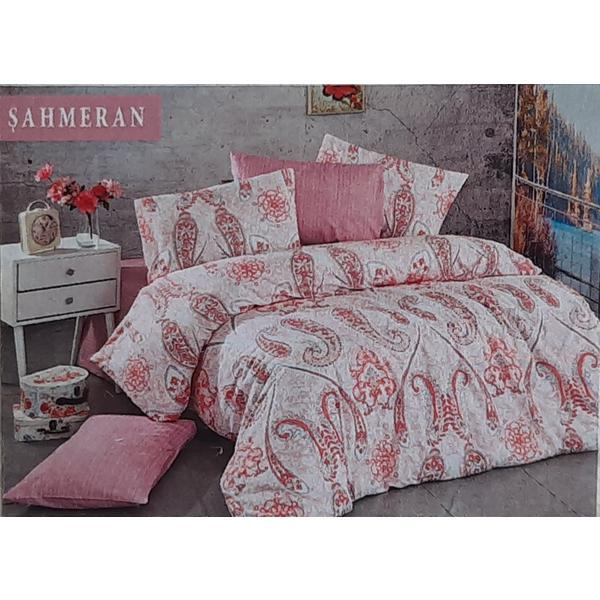 Set cearceaf de pat cu elastic 160 x 200 x 25 cm ,si 2 fete de perna 50 x 70 cm, bumbac% model 2 – Patru Anotimpuri
