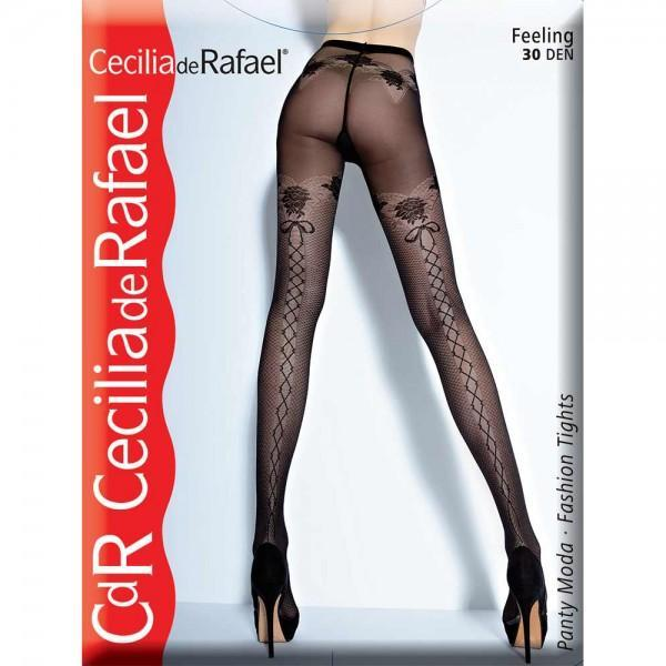 Dres model, Cecilia De Rafael Feeling, microfibra 30 DEN negru 4 (L)