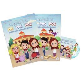 La scoala cu Pic Pac Poc vol.1+2 + CD - Diana Alexandru, Andreea Alexandru, editura Reea