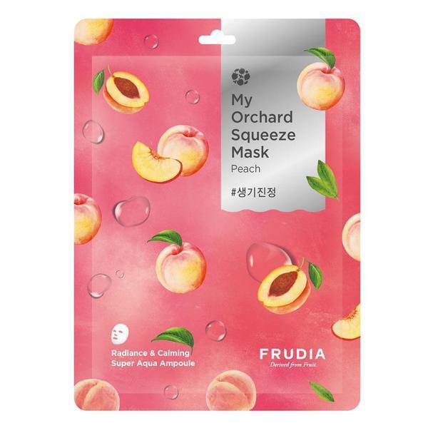 Masca de fata calmanta cu extract de piersici, Frudia My Orchard Squeeze Mask (Peach) esteto.ro