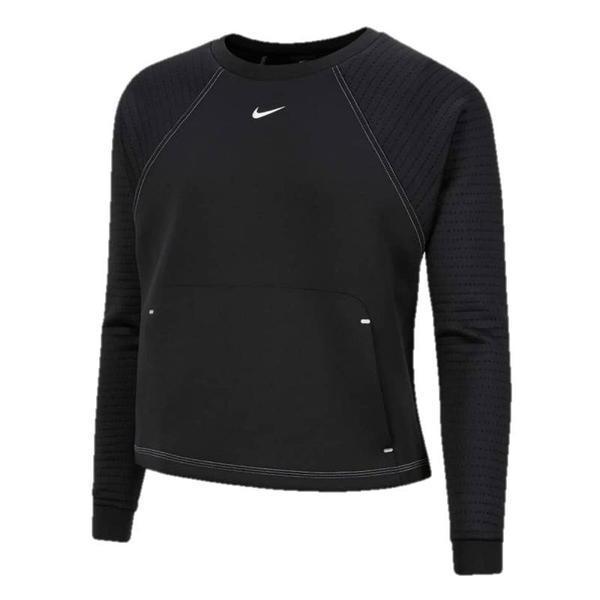 Bluza femei Nike Pro Luxe Crew CU5745-010, S, Negru