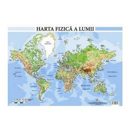 Harta fizica a lumii - Plansa A2, editura Aramis