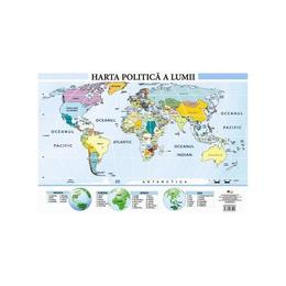 Harta politica a lumii - Plansa A2, editura Aramis