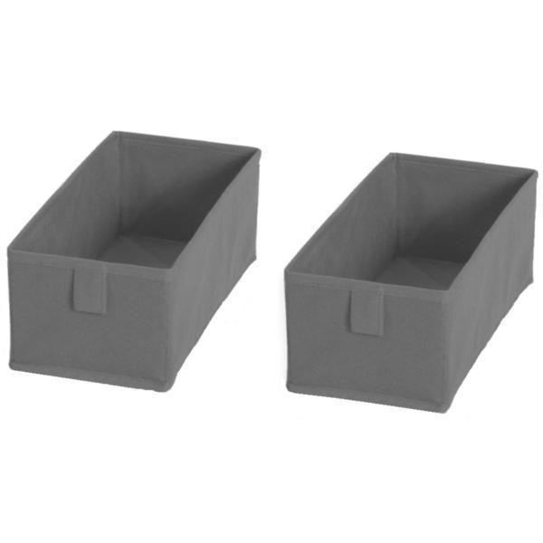 Organizator pentru sertar, gri, set 2 buc – Maxdeco