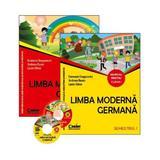 Limba moderna germana - Clasa 1. Partea 1 si 2 - Manual + CD - Evemarie Draganovici, editura Corint