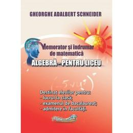 Memorator algebra pentru liceu - Gheorghe Adalbert Schneider, editura Hyperion