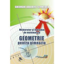 Memorator geometrie pentru gimnaziu - Gheorghe Adalbert Schneider, editura Hyperion