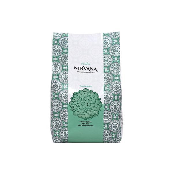 Ceara traditionala elastica parfumata tip granule Nirvana Italwax cu Lemn de Sandal 1 kg esteto.ro