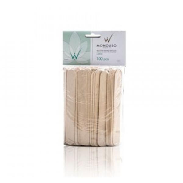 Spatule lemn pentru epilat la set de 100buc italwax esteto.ro