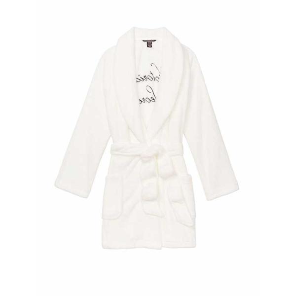 Halat, Victoria's Secret, Logo Short Cozy, Ivory, Marime M