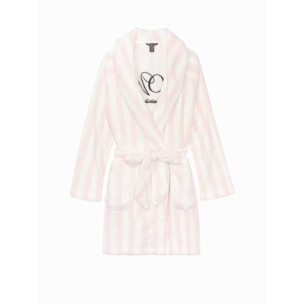 Halat, Victoria's Secret, Logo Short Cozy, Pink Stripe, Marime S