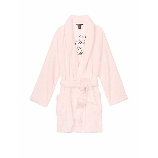 Halat, Victoria's Secret, Logo Short Cozy, Mauve Chalk, Marime S