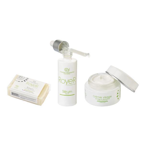 Pachet promo Bio Sapun 100gr Serum 30ml si Crema Anti-Age Reparatrice 50ml Royer Cosmetique