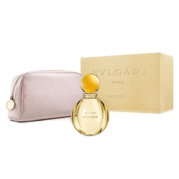 Set cadou Bvlgari Goldea: 90ml Apa de Parfum + Geanta, Femei