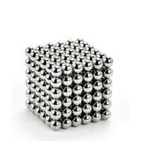 Bile magnetice antistres Neocube, 216 piese, 5mm, argintiu  - Gonga