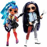 Papusi L.O.L. Surprise O.M.G. Remix Rocker Boi and Punk Grrrl  -2 Fashion Dolls with Music