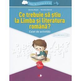 Ce trebuie sa stiu la limba romana? Trec in clasa 5 - Caiet - Daniela Besliu, Nicoleta Stanica, editura Litera