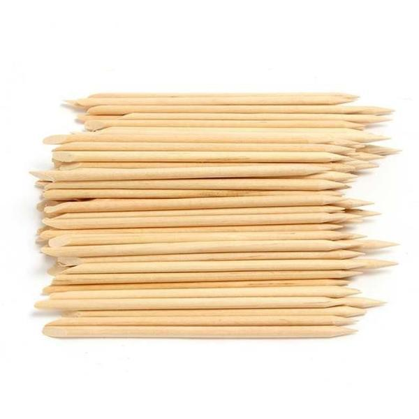 Set de 100 betisoare duble din lemn pentru cuticule, bej - Gonga esteto.ro