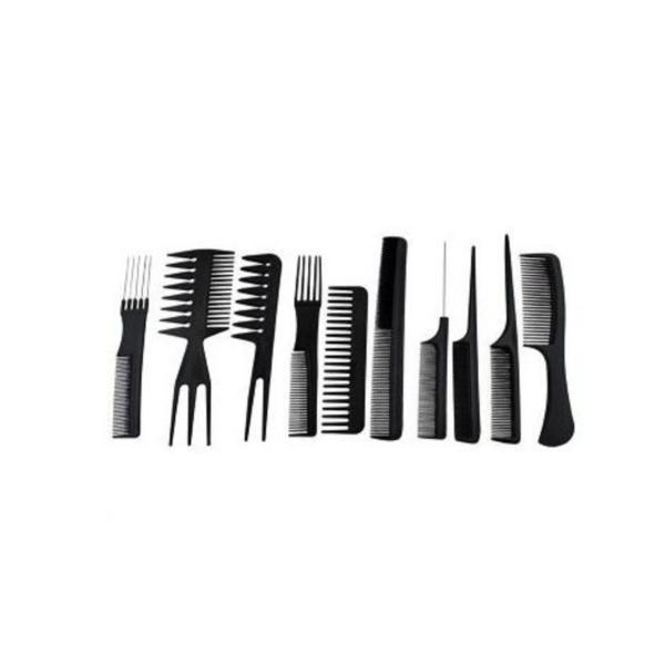 Set pentru frizerie si coafor, 10 piese, negru - Gonga esteto.ro